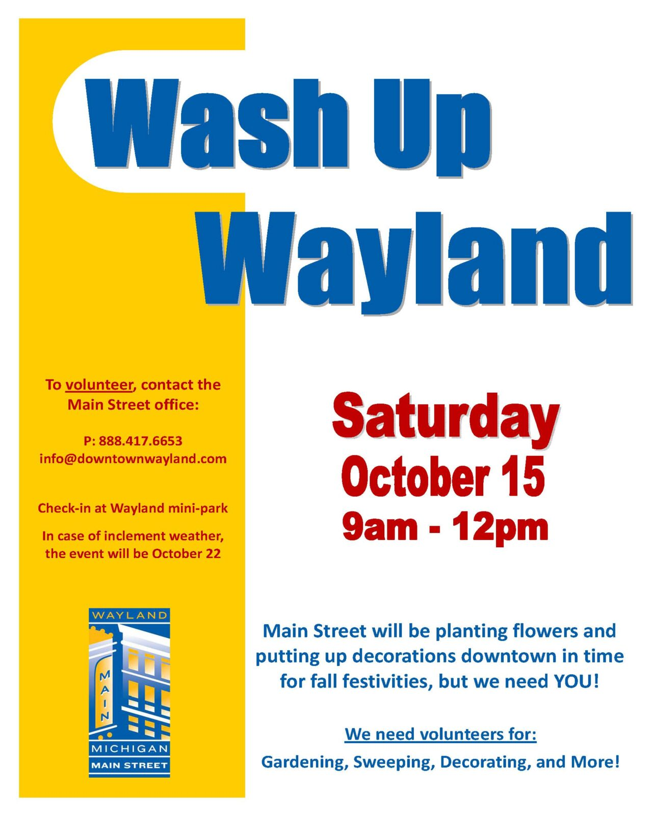 Wash Up Wayland